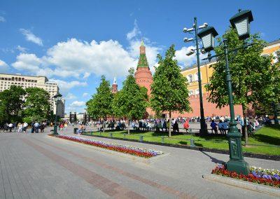 Moscow – Alexandergarden Central Alley Kreml